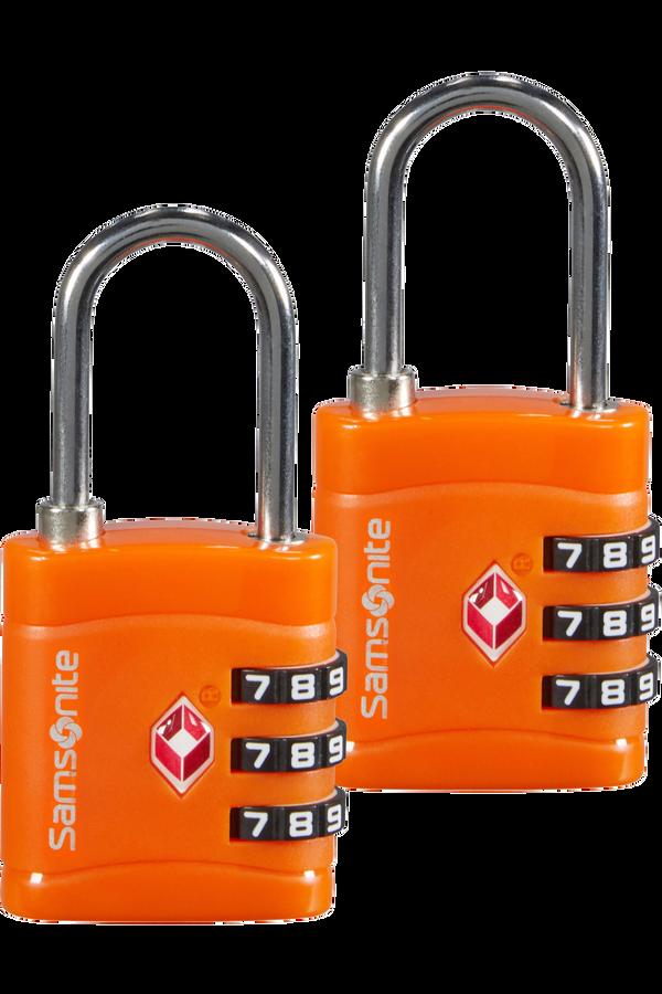 Samsonite Global Ta Combilock 3 dial TSA x2 Arancione