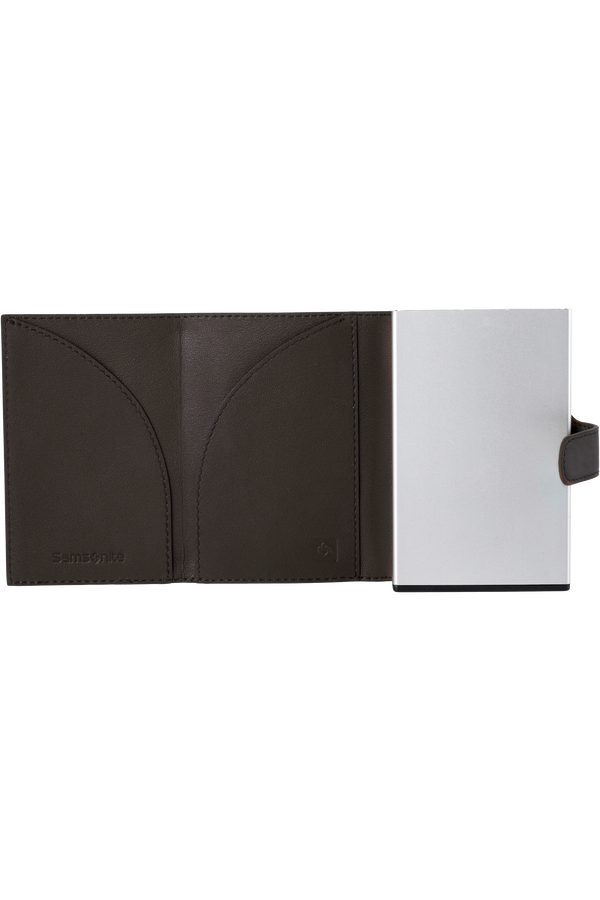 Samsonite Alu Fit 202 - Slide-up Wallet  Dark Brown