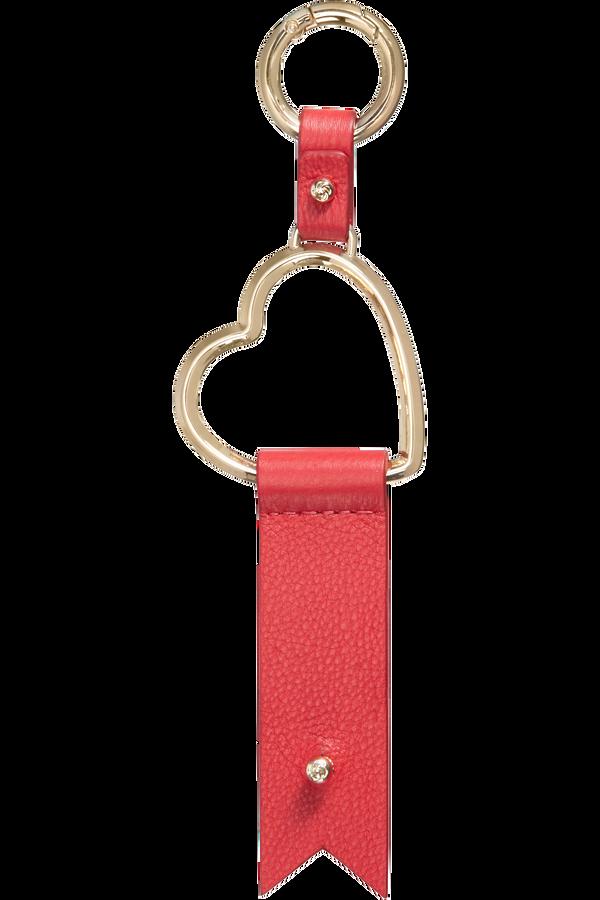 Samsonite Lady Charmy Heart Key Ring  Rosso