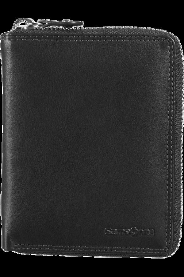 Samsonite Attack SLG Wallet Zip Around M Nero