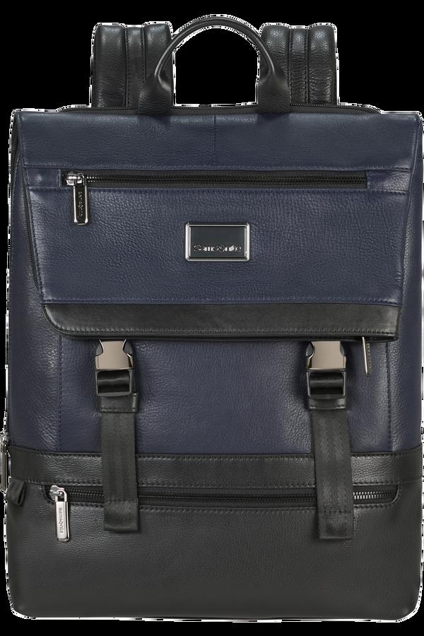 Samsonite Waymore Lth Laptop Backpack Flap Slim  15.6inch Blu