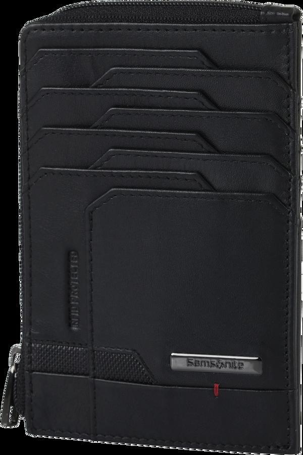 Samsonite Pro-Dlx 5 Slg 727-All in One Wallet Zip  Nero