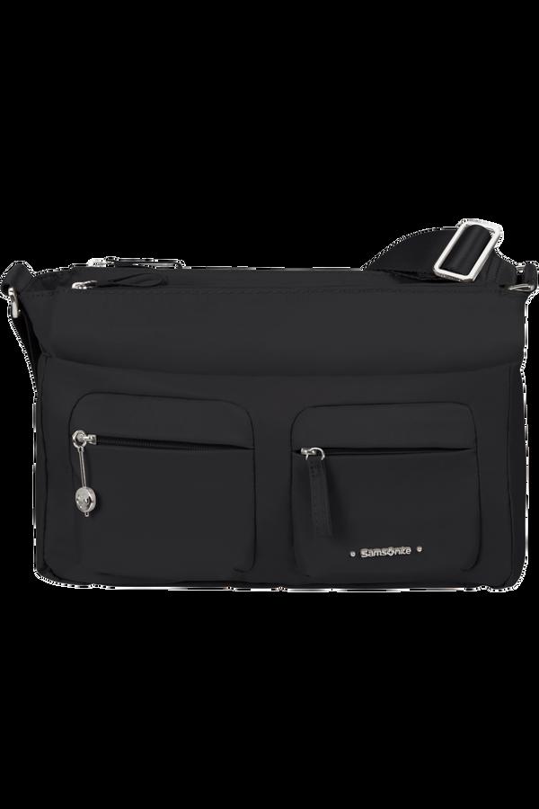 Samsonite Move 3.0 Horiz Shoulder Bag + Flap  Nero
