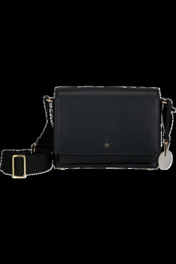 Samsonite Roundtheclock Shoulder Bag + Flap  Nero