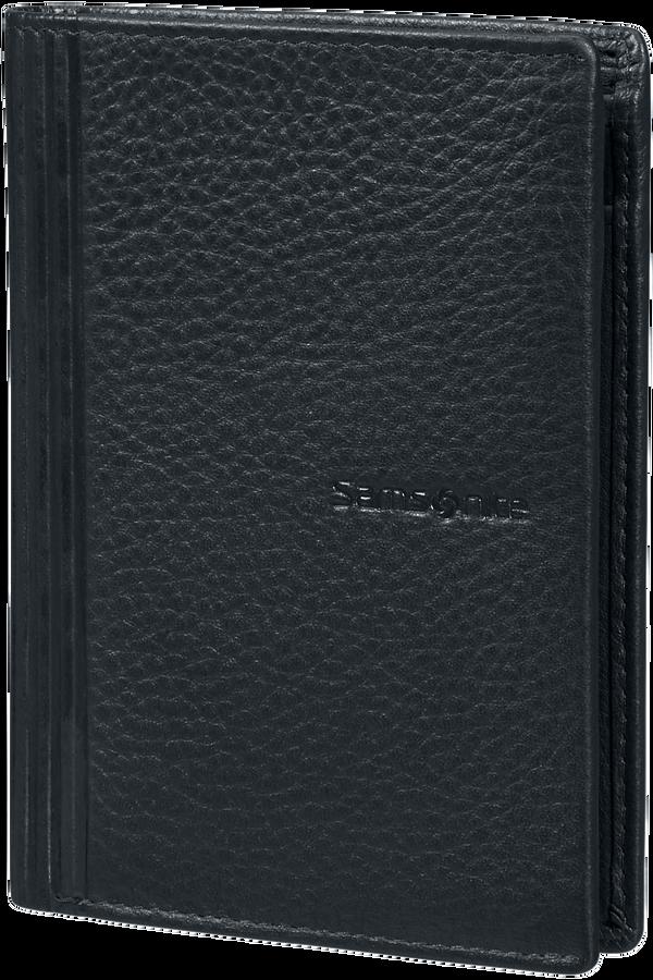 Samsonite Double Leather Slg 137 - W 6CC+HFL+2W+2C  Nero