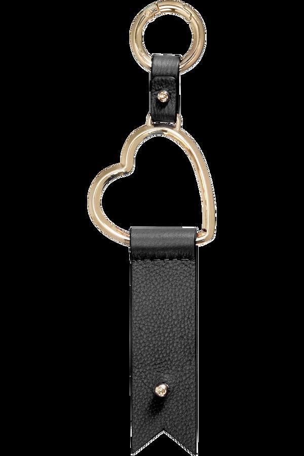 Samsonite Lady Charmy Heart Key Ring  Nero