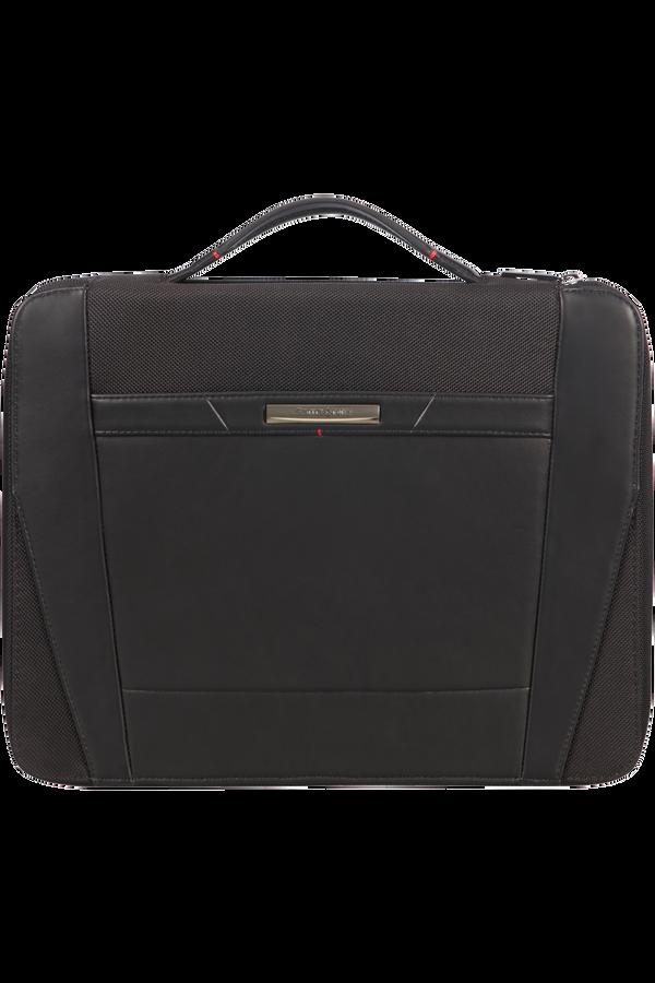 Samsonite Stationery Pro-Dlx 5 Zip Folder A4 Top H+Det B  Nero
