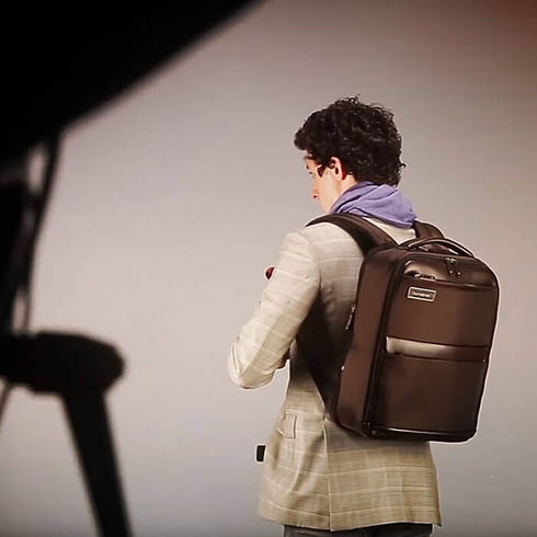 Campagna Samsonite Business: backstage con Giovanni Gastel