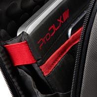 Vani imbottiti per laptop e tablet con fasce elastiche di tenuta in Velcro.